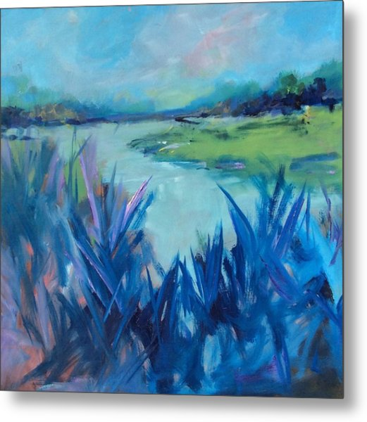 Blue Marsh Metal Print