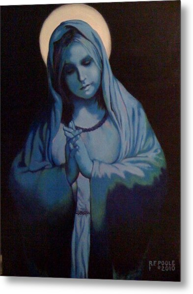 Blue Mary Metal Print by Rebecca Poole