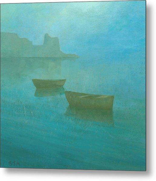 Blue Mist At Erbalunga Metal Print