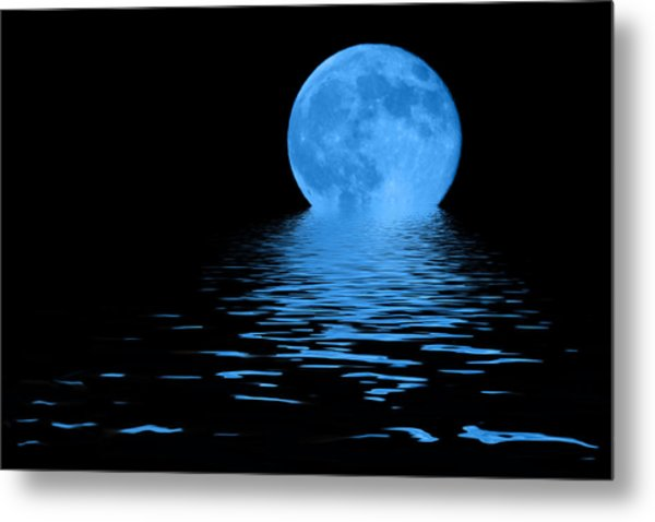 Metal Print featuring the photograph Blue Moon by Shane Bechler