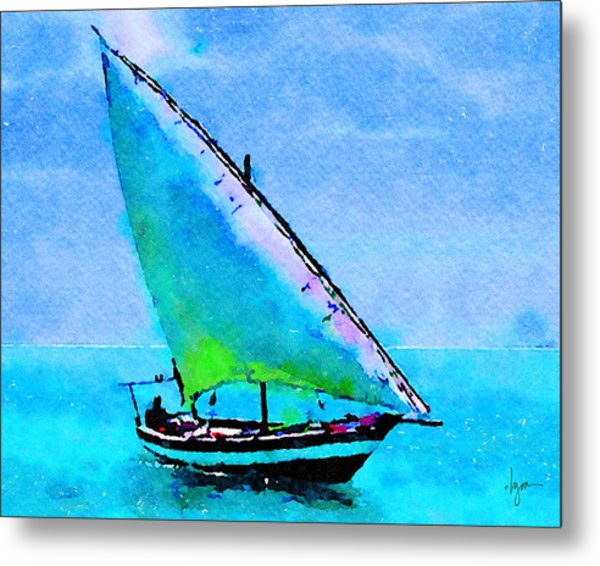 Metal Print featuring the painting Blue Morning by Angela Treat Lyon