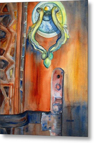 Blue Mosque Door Metal Print