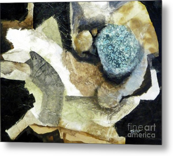 Blue Nest Metal Print