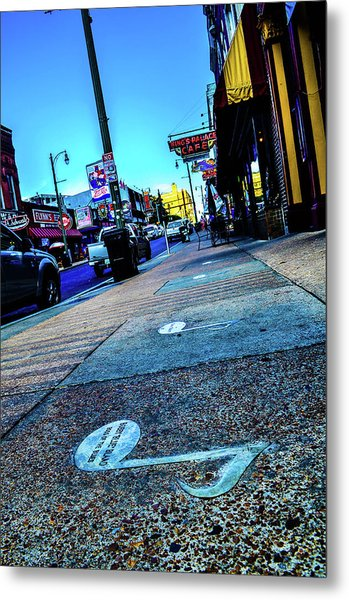 Blue Notes On Beale Metal Print