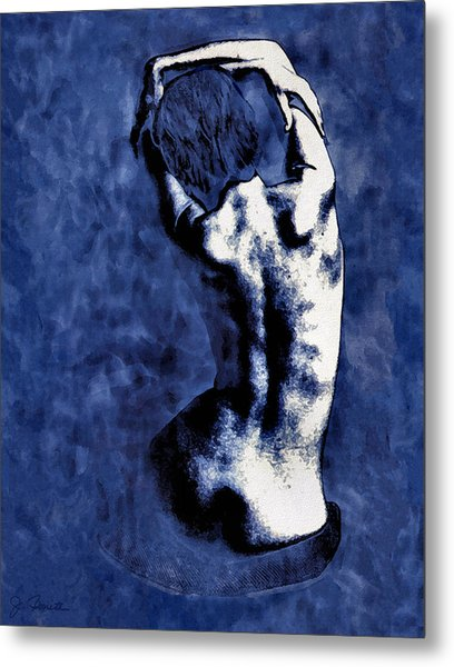 Blue Nude After Picasso Metal Print