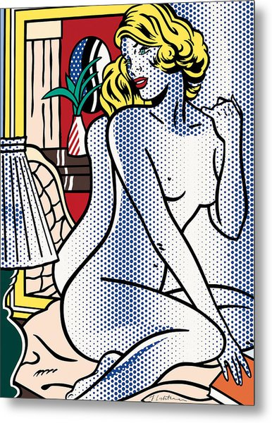 Blue Nude - Pop Art  Metal Print