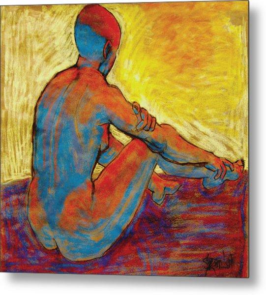 Blue Nude Metal Print by Ilene Skeen