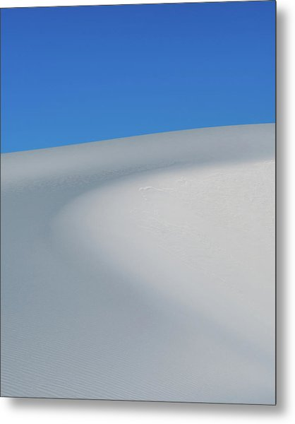 Blue Over White Metal Print