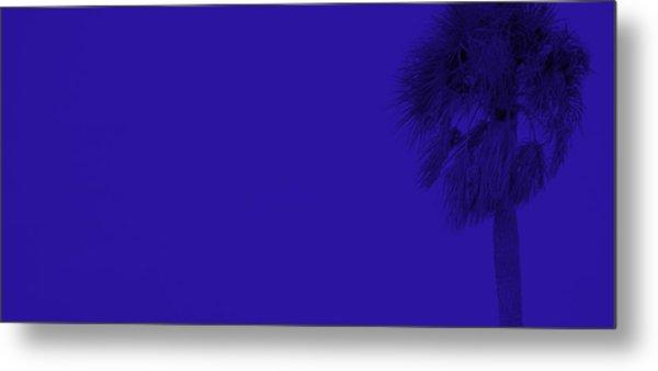 Blue Palm Metal Print