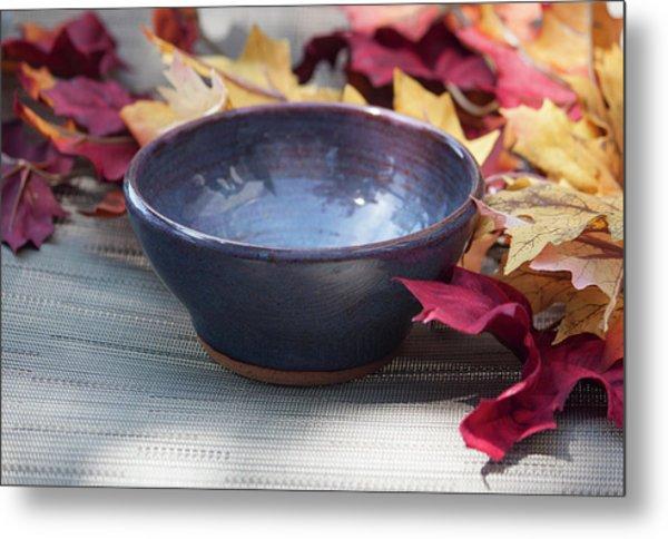 Blue Purple Bowl  Metal Print
