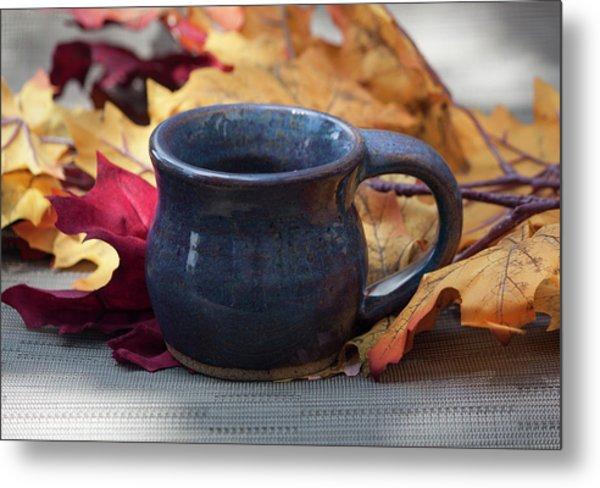 Blue Purple Mug Metal Print