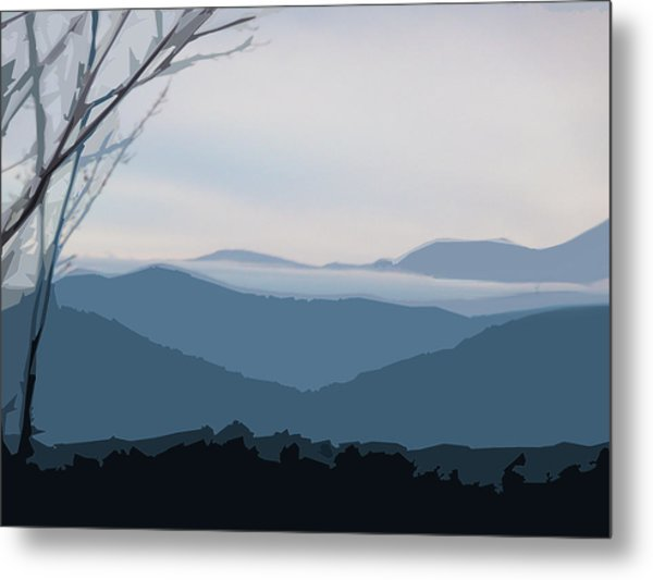 Blue Ridge Above The Clouds Metal Print