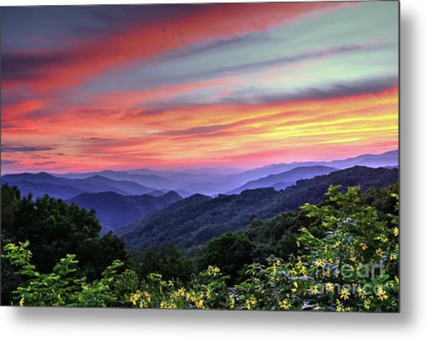 Blue Ridge Mountain Color Metal Print