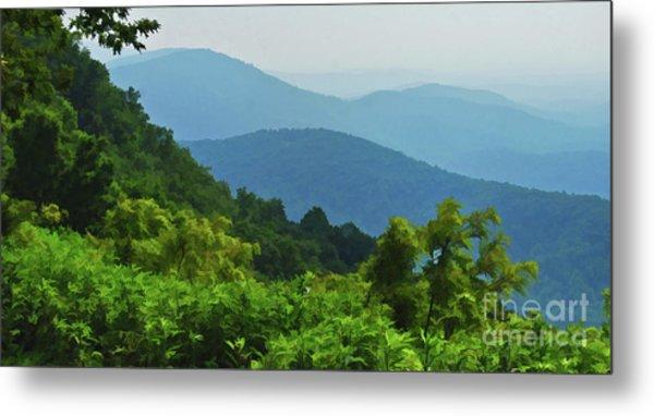 Blue Ridge Mountain Layers Metal Print