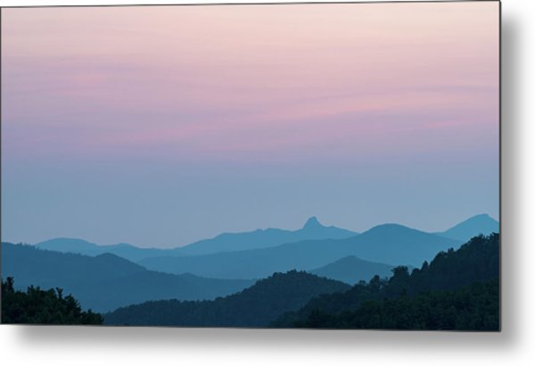 Blue Ridge Mountains After Sunset Metal Print