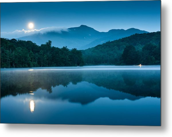 Blue Ridge North Carolina Full Moon Mountain Reflections Metal Print