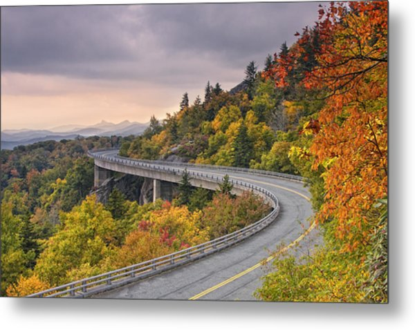 Lynn Cove Viaduct-blue Ridge Parkway  Metal Print