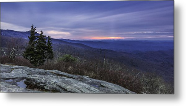 Blue Ridge Parkway Sunrise Metal Print