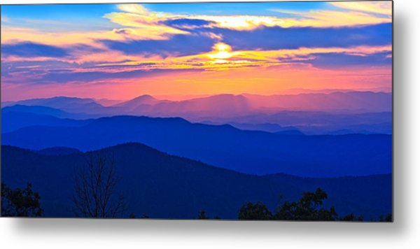 Blue Ridge Parkway Sunset, Va Metal Print