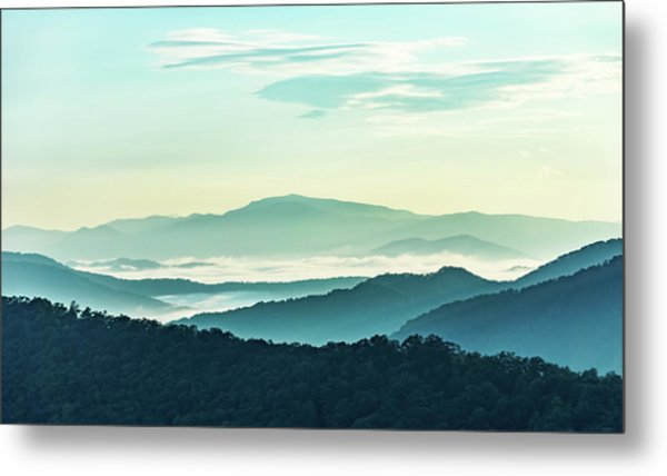 Blue Ridge Pastel Metal Print