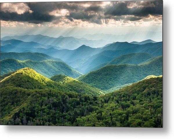 Blue Ridge Southern Appalachian Mountain Light Show Metal Print