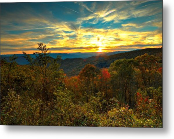 Blue Ridge Sunsets Metal Print