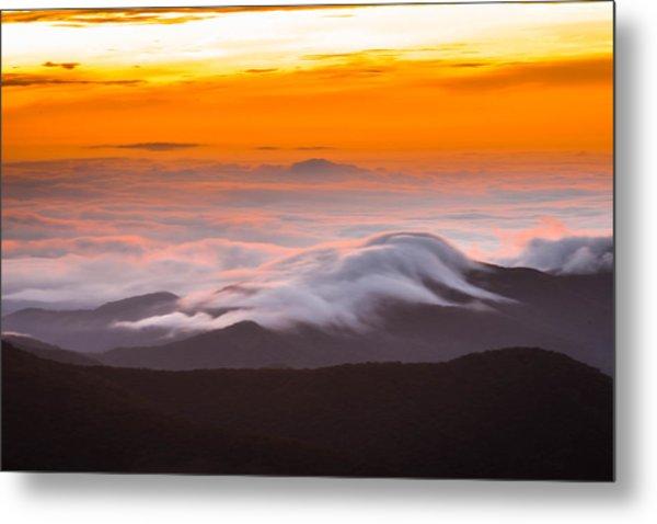 Blue Ridge Valley Of Clouds Metal Print