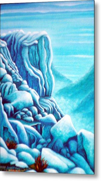 Blue Rocks Metal Print by Barbara Stirrup