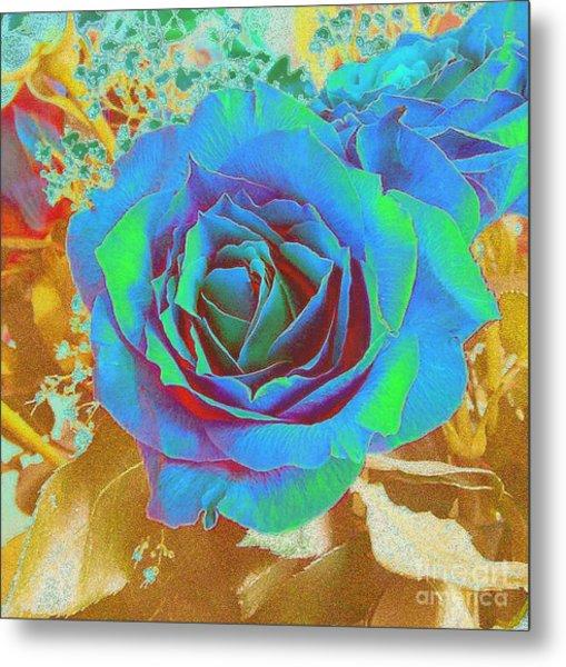 Blue Rose Metal Print by Addie Hocynec