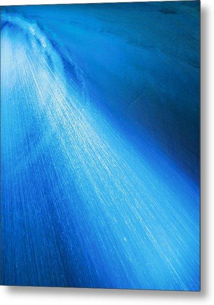 Blue Shower Metal Print by Johann Todesengel