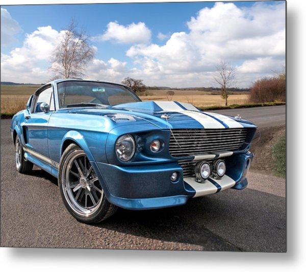 Blue Skies Cruising - 1967 Eleanor Mustang Metal Print