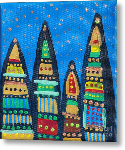 Blue Sky Catherdrals Metal Print by Maria Curcic