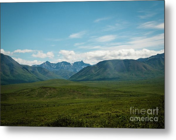 Blue Sky Mountians Metal Print