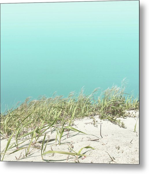 Metal Print featuring the photograph Blue Sky Over Sea Grass by Cindy Garber Iverson