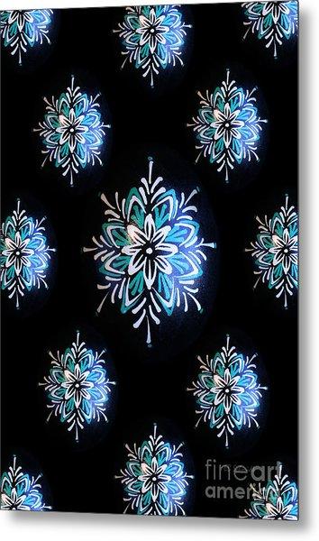 Blue Star Pysanky Metal Print