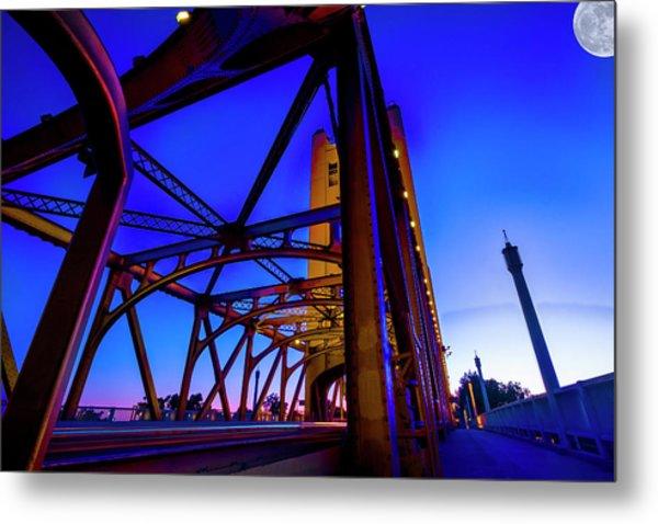 Blue Sunset- Metal Print