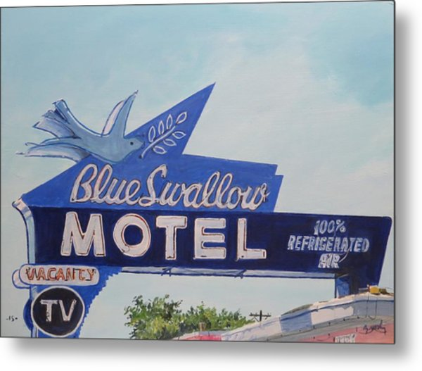 Blue Swallow Metal Print
