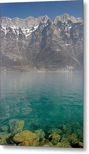 Blue Swiss Lagoon Metal Print by Pierre Leclerc Photography