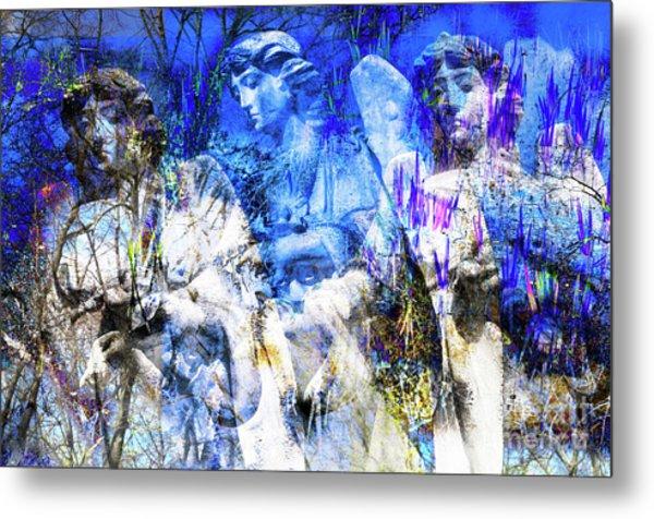 Blue Symphony Of Angels Metal Print