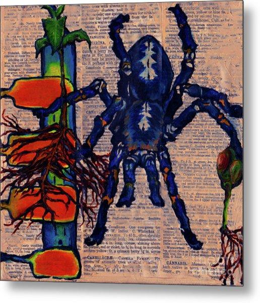 Blue Tarantula Metal Print