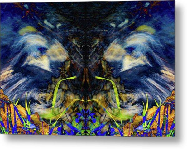Blue Tigers Devil Metal Print