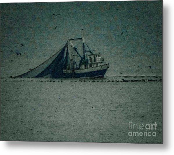 Blue Trawler 3 Metal Print