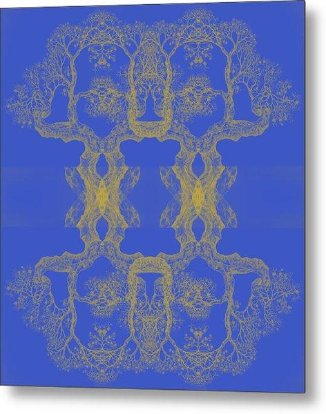 Blue Tree 14 Hybrid 4 Metal Print