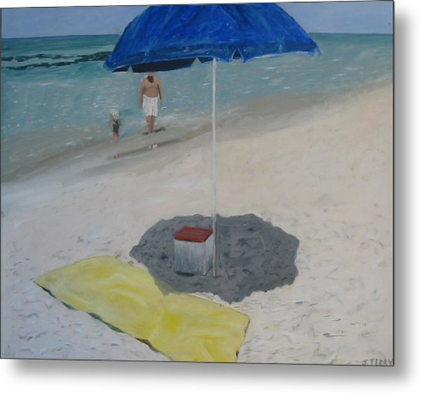 Blue Umbrella Metal Print by John Terry