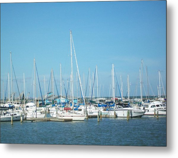 Blue White And Blue Metal Print