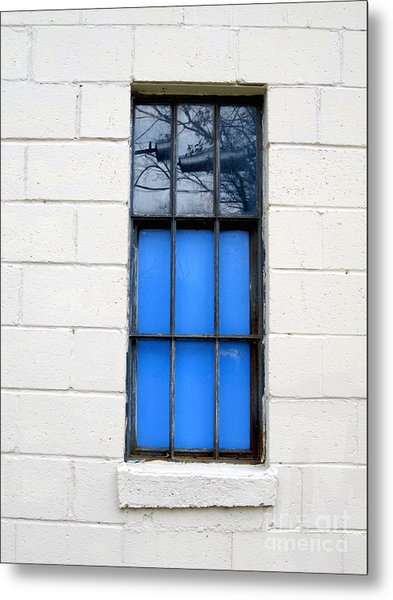 Blue Window Panes Metal Print
