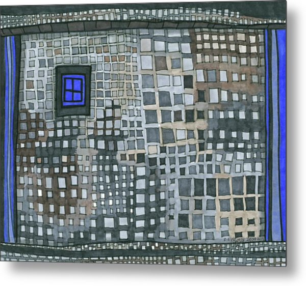 Blue Blue Windows Metal Print
