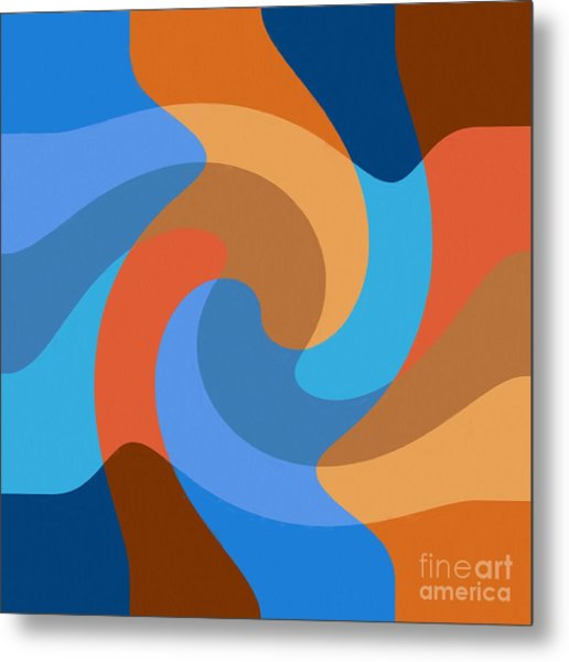 Blue Within Blue Metal Print