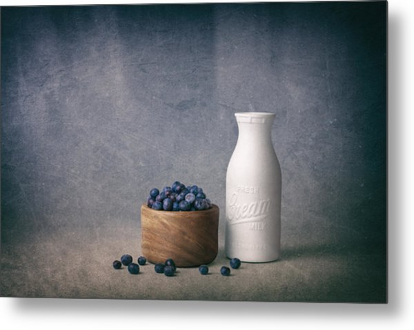 Blueberries And Cream Metal Print