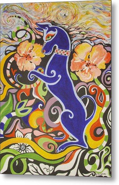 Blueberry Dog Metal Print by Elizabeth Bonanza